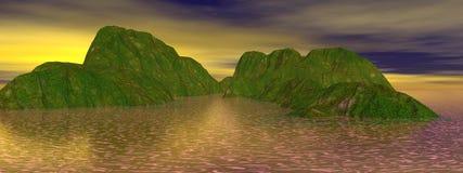Mountain and lake Royalty Free Stock Image
