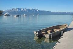 Mountain Lake Boat Royalty Free Stock Photography