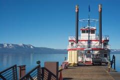 Mountain Lake Boat Stock Photography