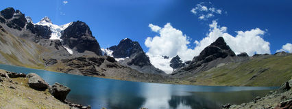 Mountain lake in Bolivian Andes Royalty Free Stock Images
