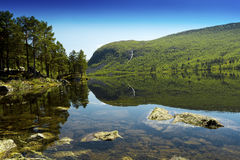 Mountain lake on bright. Summer day Stock Photography