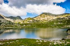 Mountain lake Bucura, in Retezat, Romania, Europe Stock Image