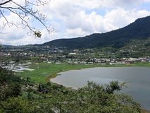 Mountain Lake Buyan in Bedugul area, Bali, Indonesia stock image