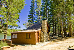 Mountain Lake Cabin Stock Photo