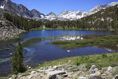 Mountain lake in California mountains Royalty Free Stock Image