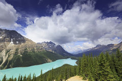 Mountain lake in Canadian Rockies Stock Photography