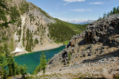 Mountain Lake. In the Canadian Rocky Mountains Stock Photo