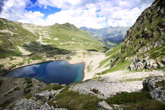 Mountain lake in Caucasus Stock Photo