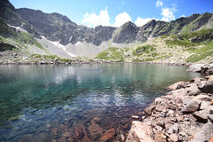 Mountain lake. In Caucasus (Arhiz, Russia Stock Images