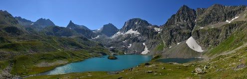 Mountain lake in the caucasus Stock Photos