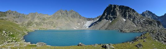 Mountain lake in the caucasus Royalty Free Stock Images