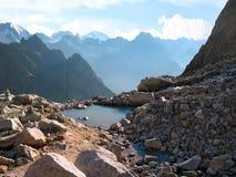 Mountain lake. Caucasus mountains, Elbrus region, Russia. Royalty Free Stock Photo