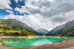 Mountain  lake in Central Asia Royalty Free Stock Photography