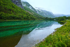 Mountain lake with clean water (Norway). Royalty Free Stock Photos