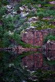 Mountain lake with clear water. Kola Peninsula , Khibiny . Russia Stock Photos