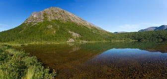 Mountain lake with clear water. Kola Peninsula , Khibiny . Russia Stock Image