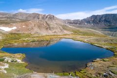 Mountain lake, Colorado. Blue waters in alpine lake in rural Colorado on sunny day Stock Images