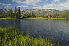 Mountain lake in Colorado Rocky Mountains Royalty Free Stock Photo