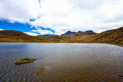 Mountain and lake in the Cotopaxi National Park Stock Images