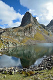 Mountain lake d'Arrious in the Atlantic Pyrenees Stock Image