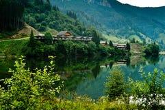 Mountain lake in Dambovicioara Romania Royalty Free Stock Image