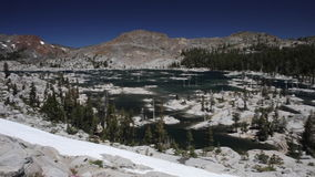 Mountain Lake in Desolation Wilderness of Eastern California stock video footage