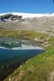 Mountain lake - Djupvatnet lake, More og Romsdal,. Norway, 1030 meters above sea level Royalty Free Stock Photos