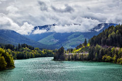 Mountain lake in Dolomites Alps, Italy Stock Photography