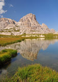 Mountain lake in Dolomites Mountains Royalty Free Stock Image