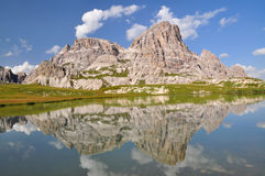Mountain lake in Dolomites Mountains Royalty Free Stock Images