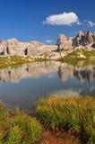 Mountain lake in Dolomites Mountains Royalty Free Stock Photos