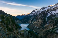 Mountain lake at dusk. Royalty Free Stock Photography