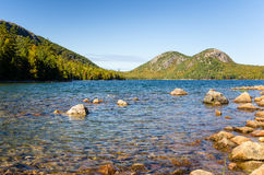 Mountain Lake in Early Autumn Royalty Free Stock Photography
