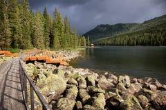 Mountain lake in East Kazakhstan Stock Photography