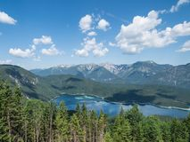 The mountain lake Eibsee in Tyrol, Germany Stock Image