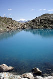 Mountain lake with Elbrus in t Royalty Free Stock Images