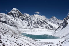 Mountain lake with Everest in background, Nepal Royalty Free Stock Image