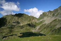 Mountain lake in Fagaras Royalty Free Stock Photo