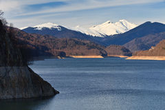 Mountain lake, Fagaras Mountains, Romania Stock Images