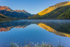 Mountain Lake in Fall Royalty Free Stock Images