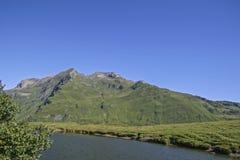 Mountain lake in the Formazza valley Stock Photos