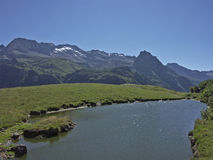 Mountain lake in the Formazza valley Stock Images