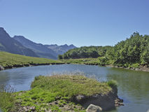 Mountain lake in the Formazza valley Royalty Free Stock Photos