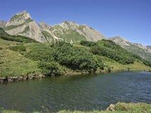 Mountain lake in the Formazza valley Stock Photo