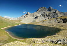 Mountain lake in French Alps, Vanoise. Stock Images