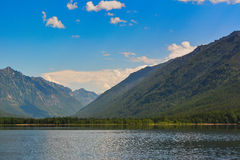 Mountain  on the lake Frolikha Royalty Free Stock Photos