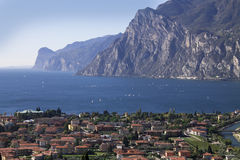 Mountain lake Garda, a Aerial View Royalty Free Stock Photo