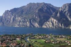 Mountain lake Garda, a Aerial View Royalty Free Stock Photography
