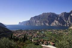 Mountain lake Garda, a Aerial View Stock Photo