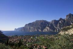 Mountain lake Garda, a Aerial View Stock Photos